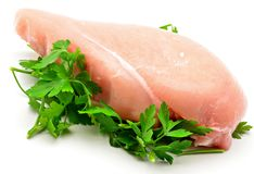 Chicken breasts with parsley Royalty Free Stock Image