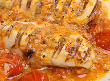 Chicken Breasts in Provencal Sauce. Char-grilled chicken breasts casseroled in Provencal sauce royalty free stock photography