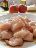 Chicken breasts and rabbit meat. Chicken breasts with soy sauce Stock Photo
