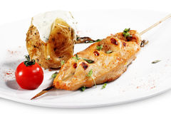 Chicken Breasts Shish Kebab Royalty Free Stock Images