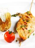 Chicken Breasts Shish Kebab Royalty Free Stock Photos