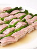 Chicken breasts with yunnam ham Royalty Free Stock Images