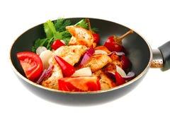 Chicken brisket slices Stock Image