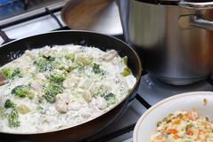 Chicken with broccoli Royalty Free Stock Images