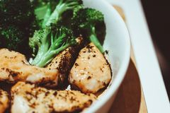Chicken and broccoli Royalty Free Stock Images