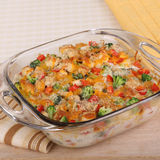 Chicken and Broccoli Casserole Royalty Free Stock Photography