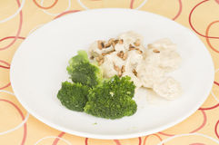 Chicken and broccoli dinner Royalty Free Stock Photos