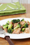 Chicken and broccoli stir fry Stock Image
