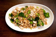 Chicken broccoli stir fry Stock Images