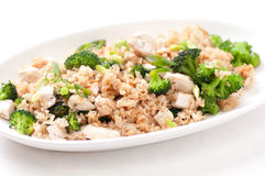 Chicken broccoli stir fry Stock Photos