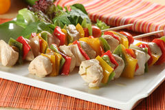 Chicken brochettes Stock Photo