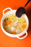 Chicken broth Stock Image