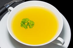 Chicken broth Royalty Free Stock Images