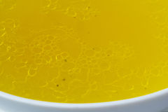 Chicken broth Stock Photo