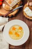 Chicken broth with noodles Royalty Free Stock Photography