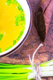Chicken broth, soup Royalty Free Stock Photos