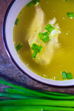 Chicken broth, soup Stock Photo