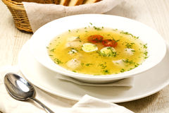 Chicken broth Stock Photography