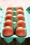 Chicken brown eggs Royalty Free Stock Photography