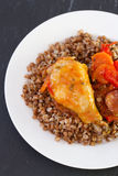 Chicken with buckwheat Royalty Free Stock Photos