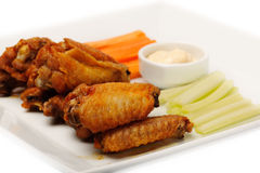 Chicken buffalo wings Royalty Free Stock Image