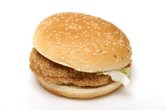 Chicken Burger Stock Photo