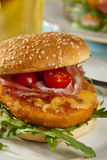 Chicken burger Royalty Free Stock Photos