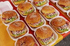 Chicken burger Stock Images