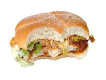 Chicken burger. Fried chicken burger stock image