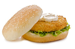Chicken burger Royalty Free Stock Photo
