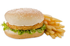 Chicken burger Royalty Free Stock Photography