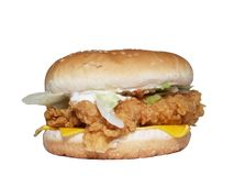 Chicken burger Stock Photography
