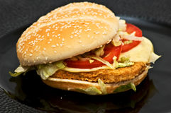 Chicken burger Stock Image