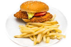 Chicken Burger Stock Photos