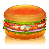 Chicken Burger Icon Royalty Free Stock Photo