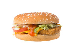 Chicken burger Royalty Free Stock Images