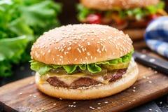 Chicken burger Stock Image