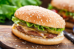 Chicken burger Royalty Free Stock Photo