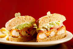 Chicken burgers Stock Images