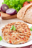 Chicken burgers grilled Stock Photo