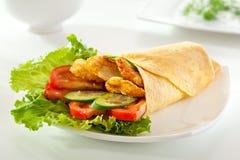 Chicken Burrito Royalty Free Stock Photo