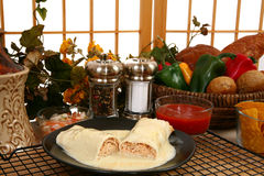 Chicken Burrito Stock Photos