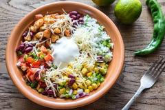 Chicken burrito bowl royalty free stock photography