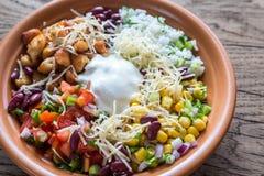 Chicken burrito bowl Royalty Free Stock Photos