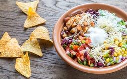 Chicken burrito bowl Stock Photos