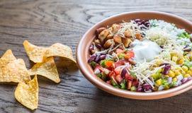 Chicken burrito bowl Royalty Free Stock Photo