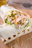 Chicken burrito with cheese Royalty Free Stock Photography