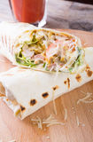 Chicken burrito with cheese Stock Photos