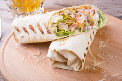 Chicken burrito with cheese Stock Photography