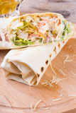 Chicken burrito with cheese Royalty Free Stock Photo
